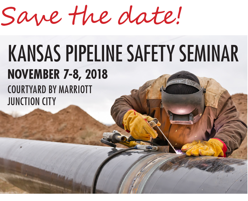 Pipeline Safety Seminar Save the Date November 7-8, 2018