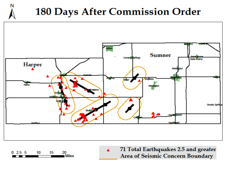 this image shows the number of earthquakes after the commission order