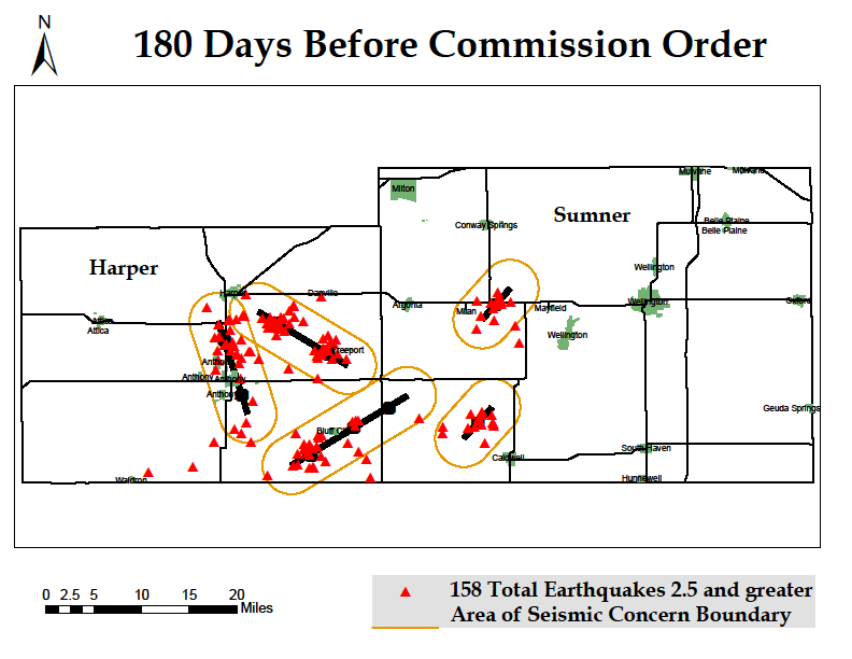 this image shows the number of earthquakes before the commission order
